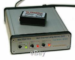 Non-Oversampling NOS DAC TDA1543 DIR9001 SPDIF Coax Optical dual 9V NiMH withcharg