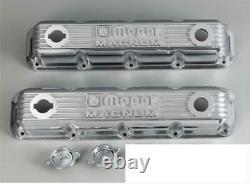 Nos Mopar Performance Polished Cast Aluminum MAGNUM Small Block Valve Covers 360