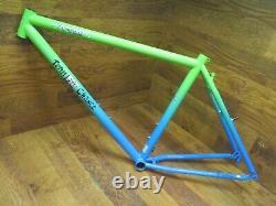 Nos Rare Original Team Fat Chance Yo-eddy Steel 26 Frame Medium Aqua Fade