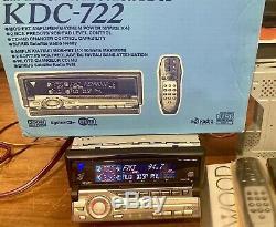 Old School Car Audio! NOS Vintage Kenwood Mask Kdc-722, sq, eq, 2xpreouts, rare, NIB