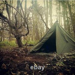 POLISH ARMY NOS MILITARY LAAVU TENT 2 PERSON 2x PONCHO SHELTER TIPI HALF SIZE 2