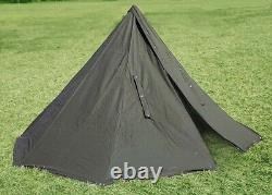 POLISH GREEN ARMY NOS MILITARY LAAVU TENT 2 PERSON Teepee Size 1 + STORAGE BAG