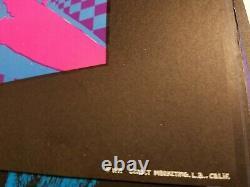 Passionate Love 1971 Vintage Blacklight Nos Poster Blue & Pink -nice