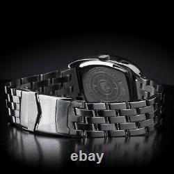 Poljot 26668 Aero Club schwarz Tonneau Russiche Uhr NOS Mechanische Uhr