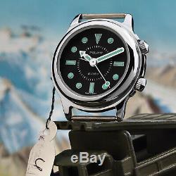 Poljot RETRO 2612 Alarm Handaufzug Wecker mechanische russische Uhr NOS Vintage