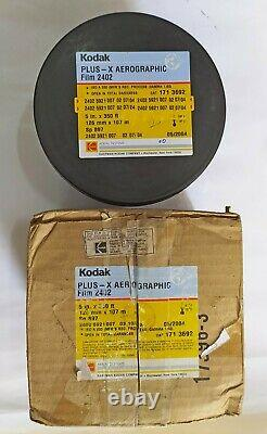 RARE KODAK PLUS X 2402 AEROGRAPHIC 5 Inch 350FT (NOS) ISO A 200 FILM EXP 2004