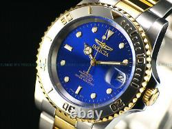 RARE NOS Invicta Mens 1st Gen. Miyota Automatic 40mm Pro Diver 23K GP Blue Watch