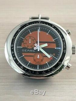 SEARS Racing Retro Automatikuhr Watch Tachymeterskala NOS Style