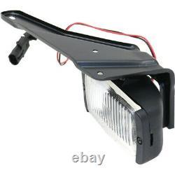 Set of 2 Clear Lens Fog Light For 88-97 Chevrolet C1500 LH & RH CAPA with Bulbs