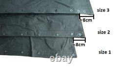 Size 3 NOS Polish Lavvu military tent Set of 2 Canvas Ponchos