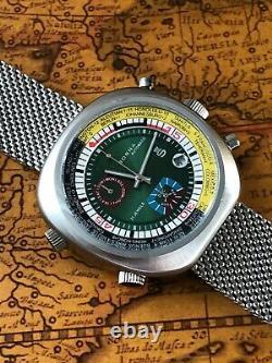 Sorna Automatikuhr GMT Vollkalender Retro NOS Style Armbanduhr Bullhead watch