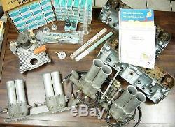 Ultra rare NOS Pontiac Ram Air IV heads with NOS Hilborn injector complete kit