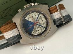 Vintage 1970's Valjoux 7736 LEGANT Chronograph TRIPLE Registers Men's Watch NOS