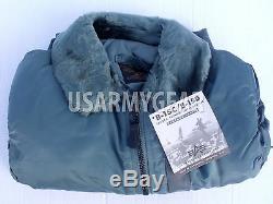 Vintage ALPHA Made in USA New Oldstock B-15 US Air Force Pilot Flight Jacket