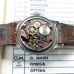 Vintage Hialeah Military WWII Radium O. Maire Gruen Manual Watch Switzerland NOS