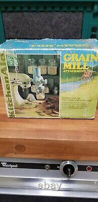 Vintage KitchenAid Hobart Grain Mill Coffee Grinder Model GM RARE NOS NIB