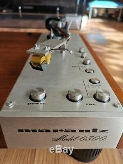 Vintage Marantz 6300 Turntable w Shure M24H & NOS Nagaoka N24H Stylus