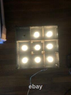 Vintage NOS Ceiling LIGHT Flush Mount ATOMIC LAMP LIGHTOLIER Retro space age