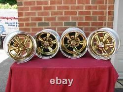 Vintage Nos Cragar Gold Ss S/s Reverse Wheels 14x10 14x7