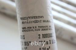 Vintage Thibaut Chinoiserie Black & White Wallpaper -NOS Lot of Six Double Rolls