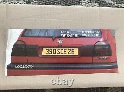 Volkswagen Golf MK3 GTI, VR6 VOTEX HECKBLENDE Filter Panel OEM NOS